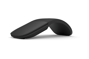 Microsoft Arc Mouse - Mouse - optical - 2 buttons - wireless - Bluetooth 5.0 LE - black